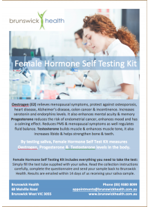 Female Hormone Self Testing Kit